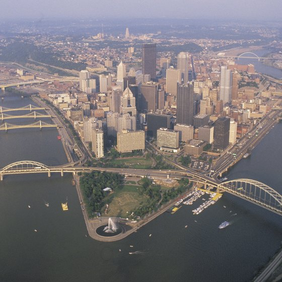 Point State Park, downtown Pittsburgh, Pennsylvania
