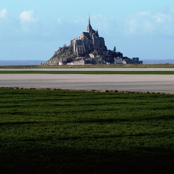 An iconic sight from the Normandy beaches is the fairy-tale island of Mont Sainte-Michel.