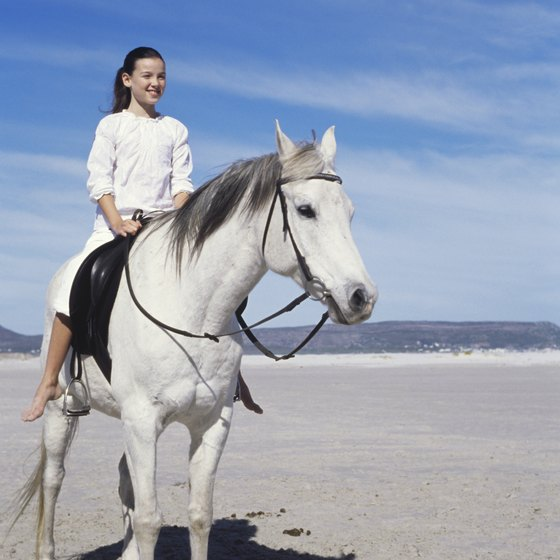 Local stables provide horses suitable for beginners to ride along the beach.