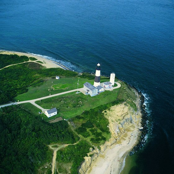 The Montauk Point Lighthouse lies at the eastern edge of Long Island's South Fork.
