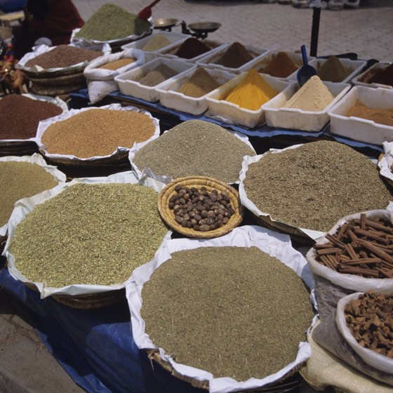 Morocco offers sought-after goods like saffron and argan oil.