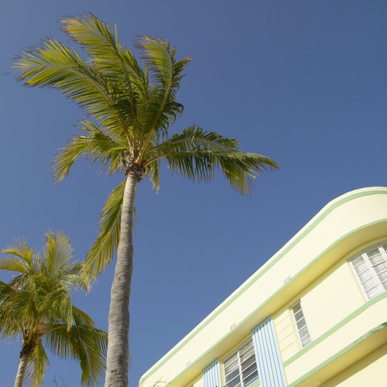 South Beach in Miami is known for its Art Deco.
