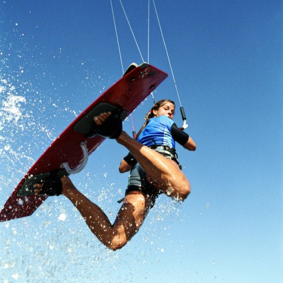 Kitesurfing along the coast of Central Florida has steadily grown in popularity.