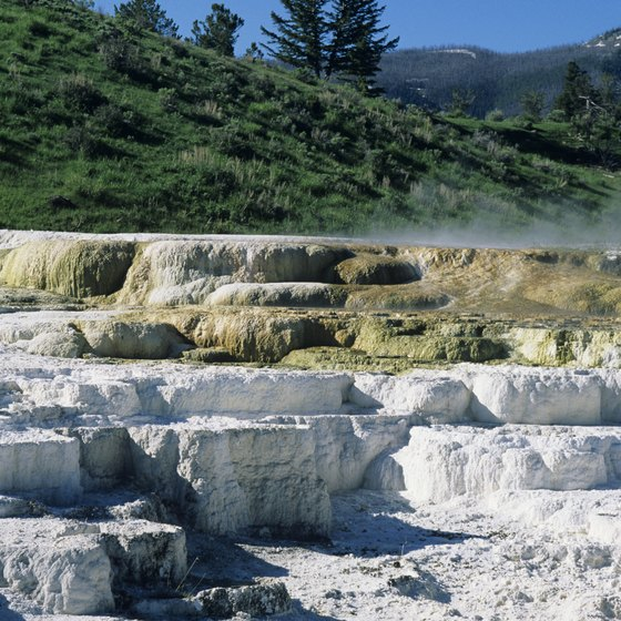 Mammoth Hot Springs is one of the natural wonders of Yellowstone National Park.