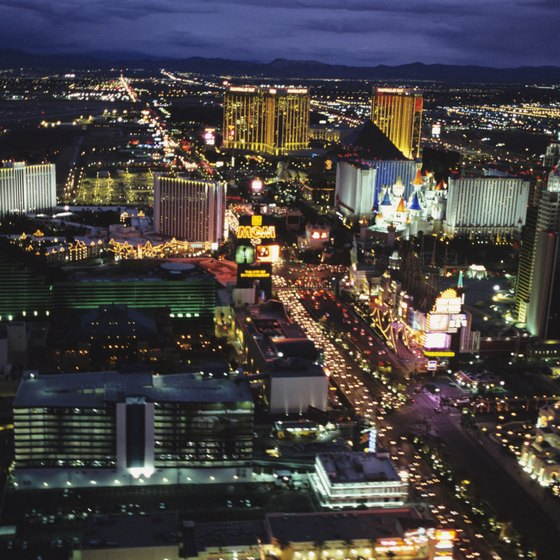 Most tourists make the Strip their home during Las Vegas vacations.
