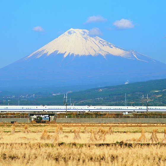 Pass Mt. Fuji as you travel on the Shinkansen bullet train from Tokyo to Hamamatsu.
