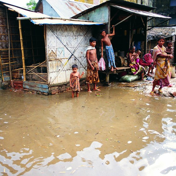Residents of Bangladesh's Plain of Bengal deal with flooding on a regular basis.