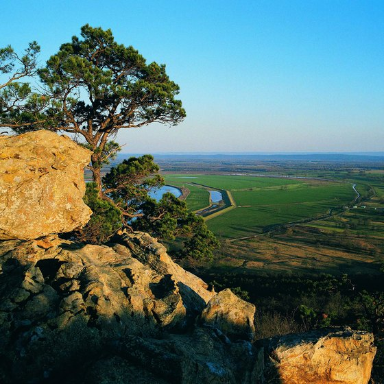 Take in the view from Petit Jean State Park in the Ouachita Mountains.
