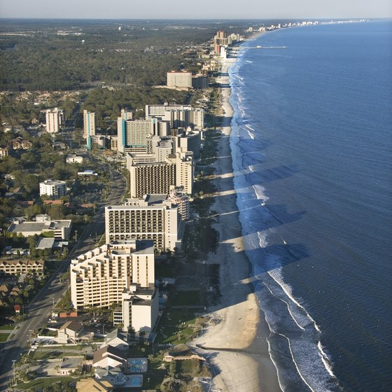 Affordable, oceanfront hotels can be found in Myrtle Beach.