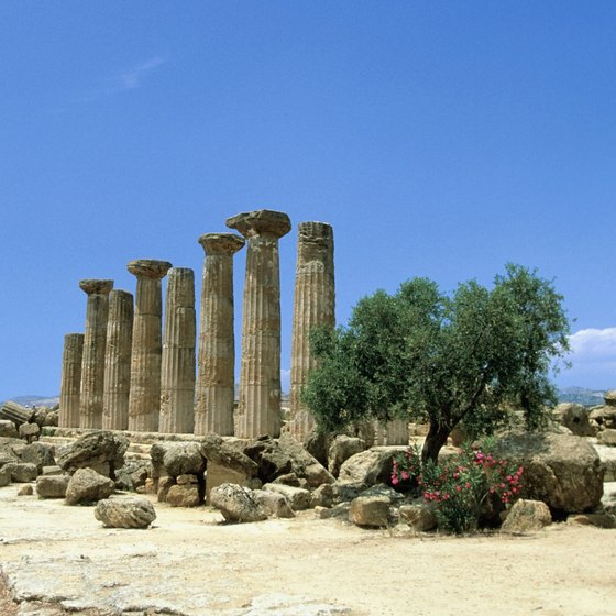 Sicily is famous for both natural and historic treasures, like the Temple of Hercules.