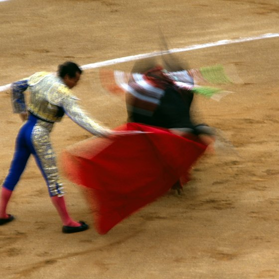 Bullfighting is a competitive business in Spain.