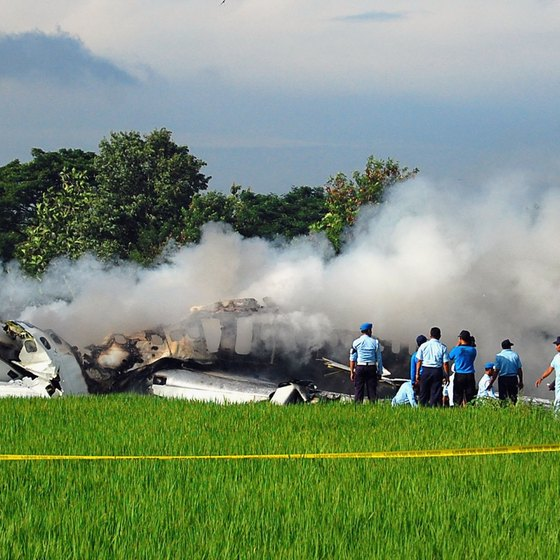 Indonesian plane burst into flames upon landing.