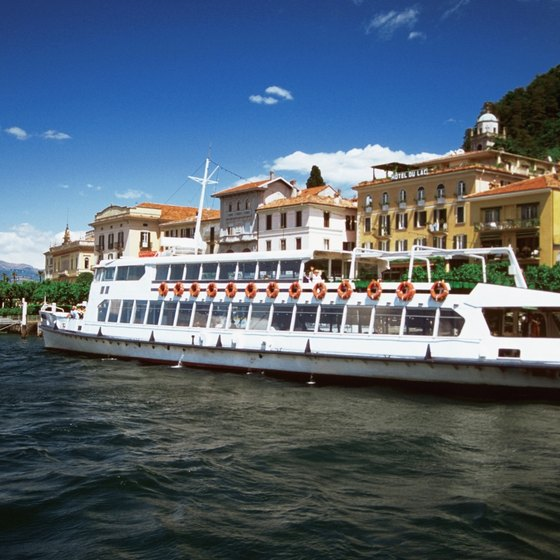 Excursion boats tour Lake Como.