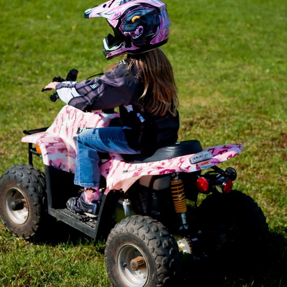 ATV parks are ideal places for new riders to get a feel for handling the vehicles.