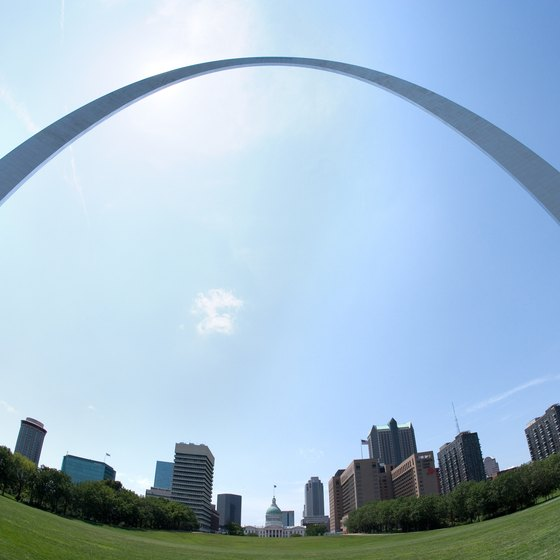The Gateway Arch's highest point offers stunning views of downtown St. Louis.
