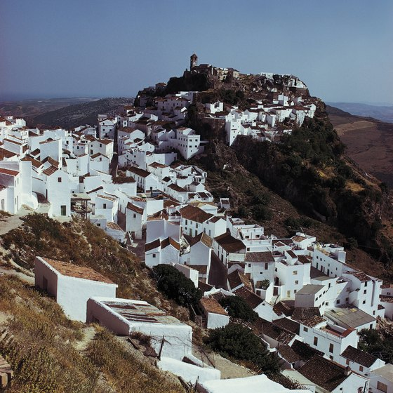 The pueblo of Mojacar sprawls up the Sierra Cabreras.