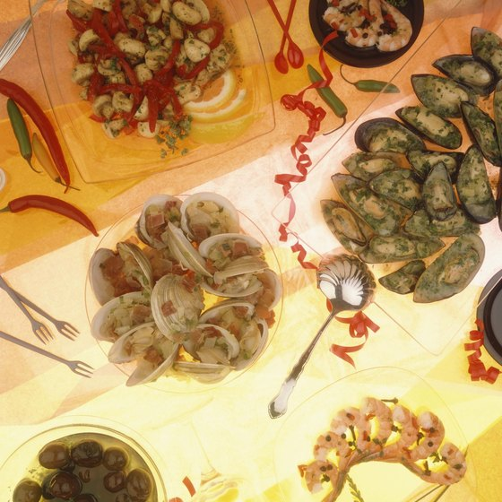 Tapas are appetizer-size dishes, a culinary import from Spain.