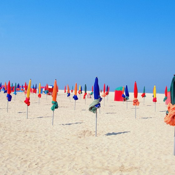 Deauville Beach is just a few miles south of Le Havre.