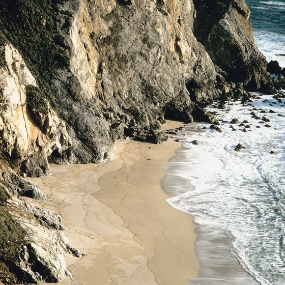 The Big Sur coastline offers lots areas for bouldering.