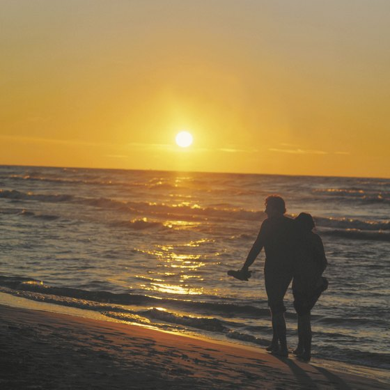 End each vacation day with a sunset walk on a Polish Baltic beach.