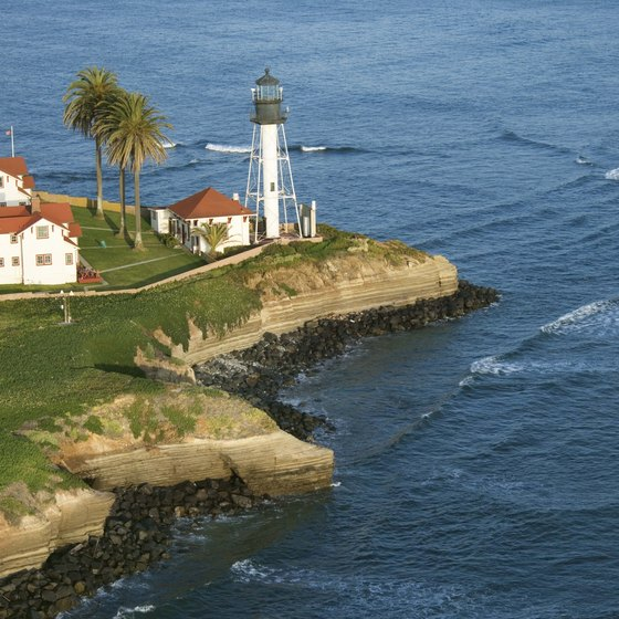 San Diego visitors can tour the Old Point Loma Lighthouse.