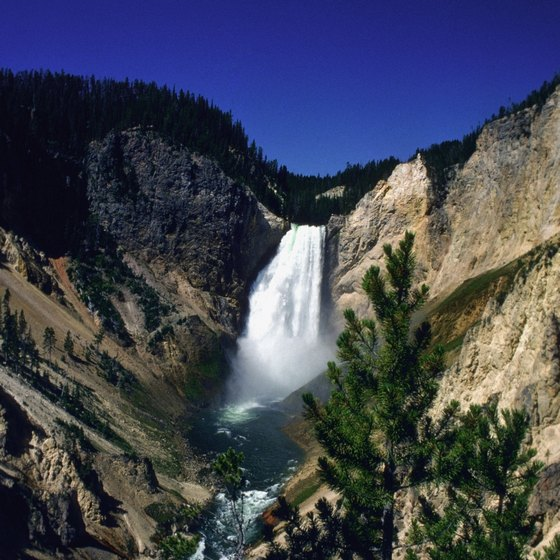 Waterfalls are at their highest in Yellowstone in May.