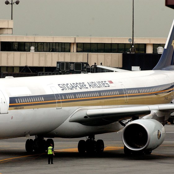 Singapore Airlines' flight to Newark took a route close to the North Pole.
