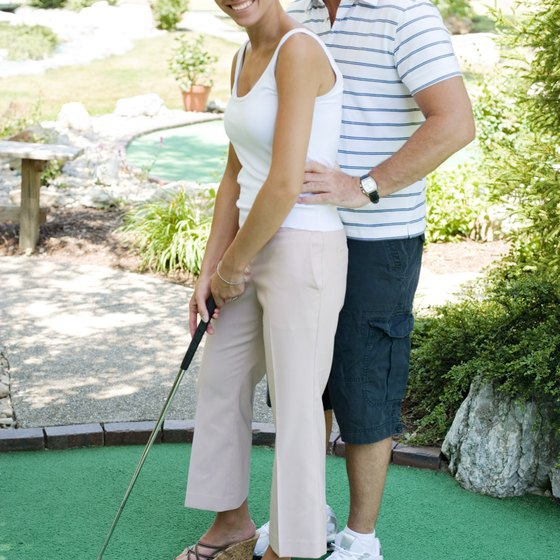Miniature golf can be a fun date-night option.