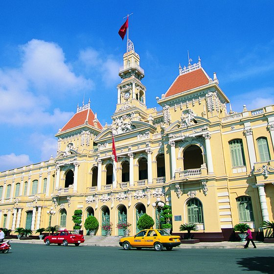 Ho Chi Minh City Hall is a fine example of Saigon's ornate colonial architecture.