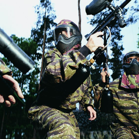 Couples will have a blast playing paintball.