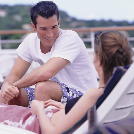 Couples find romance in a variety of ways aboard a cruise ship.