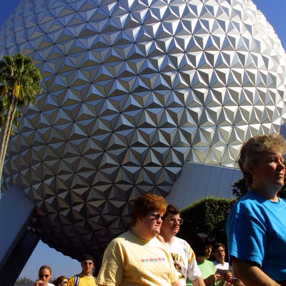 Spaceship Earth is the most striking landmark in Epcot.