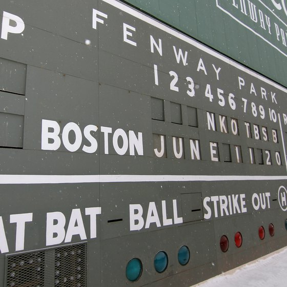 Fenway Park in Boston still uses a hand-operated scoreboard.