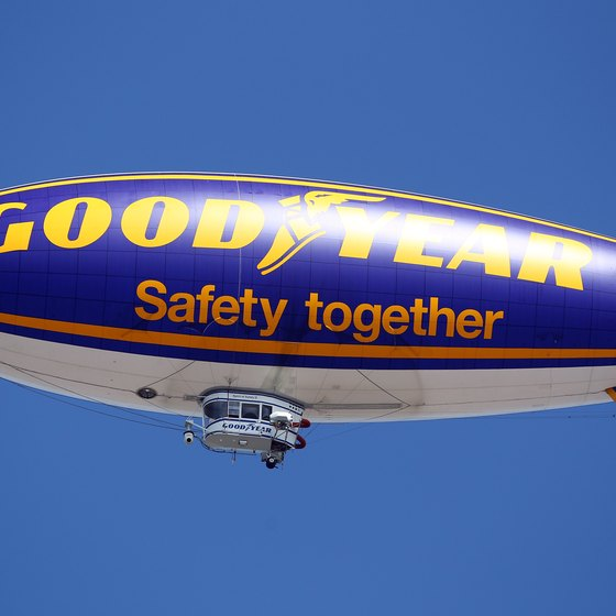 Goodyear blimps are a familiar sight at major sporting events.