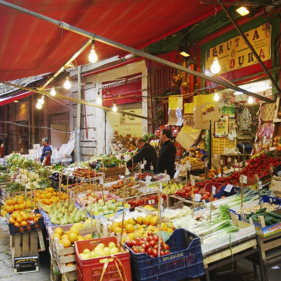 An Italian market offers accessible local color.