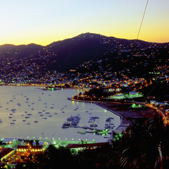 St. Thomas is a popular cruise port in the Caribbean.