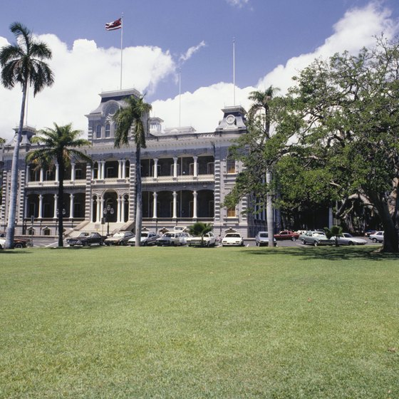 Honolulu's Iolani Palace is one of many vestiges of the Hawaiian monarchy.