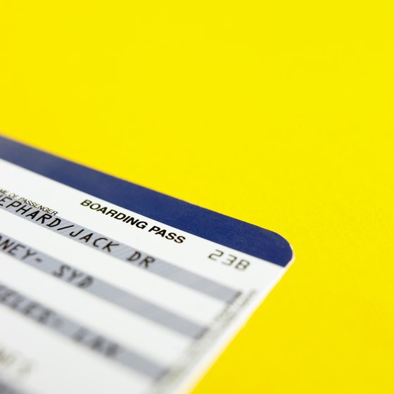 Tickets and boarding passes contain many codes and abbreviations.