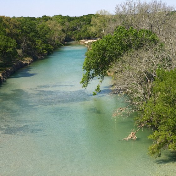 The Blanco River is a short distance from Devil's Backbone.