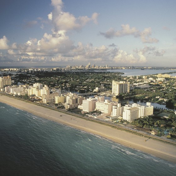 Miami's South Beach is lined with hotels large and small.