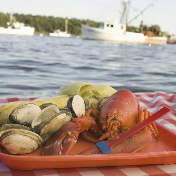 Casco Bay is known for its Maine lobster.