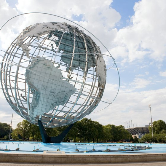 The giant metallic globe is one of the most famous landmarks in Queens.