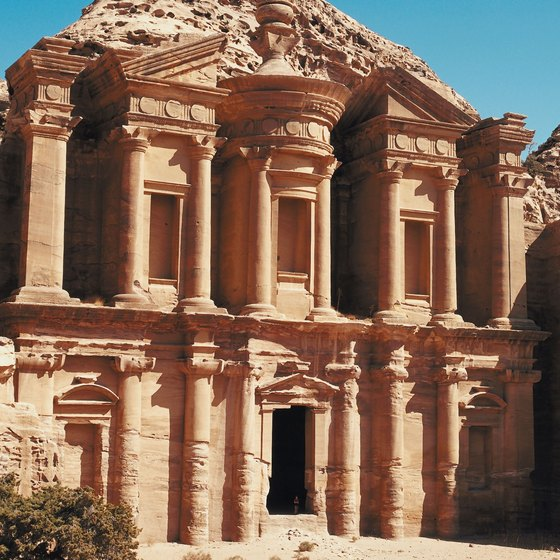 Renting a car in Jordan can make it easier to see tourist attractions such as Petra.