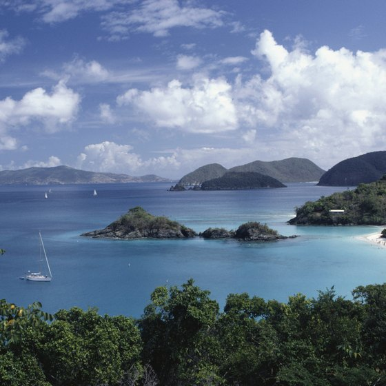Trunk Bay on St. John features a snack bar and a snorkeling trail.