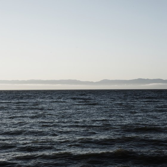 The Strait of Juan de Fuca surrounds the Neah Bay.