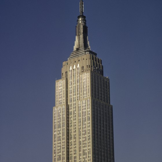 The Empire State Building is one of the most famous landmarks in NYC.