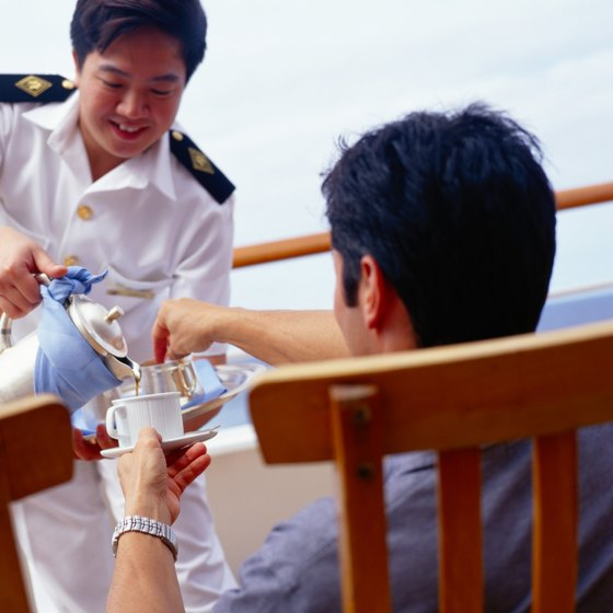 A tip for the wait staff is just one of the gratuities expected on a Holland America cruise.