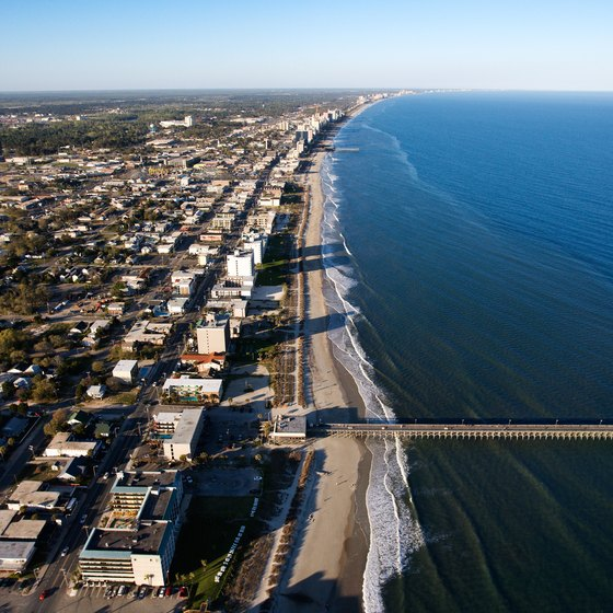 Myrtle Beach stretches along South Carolina's shore.