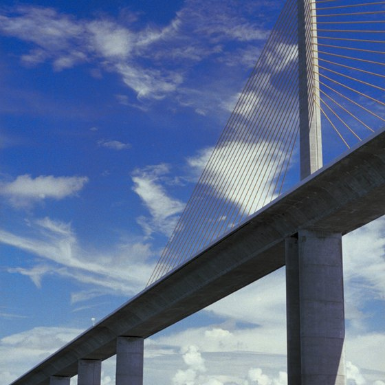 Take the Sunshine Skyway Bridge route to Sarasota.