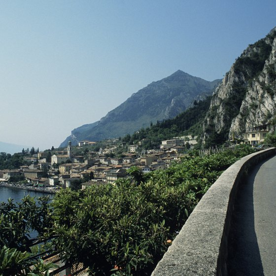 Lake Garda is a popular destination for tourists.